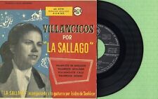 LA SALLAGO / Villancicos Flamencos / RCA 3-24103 Press. Spain 1958 EP EX