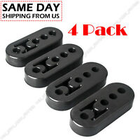 4*Universal Car Rubber Exhaust Tail Pipe Mount Brackets 4 Holes Hanger Insulator