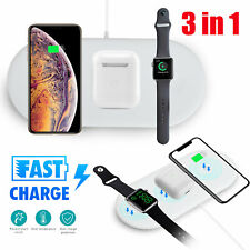 3 In 1 QI Wireless Charger QC 3.0 Charging Dock Station For Apple Watch/ iPhone