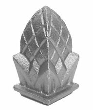 """CAST IRON PINEAPPLE FINIALS-LOT 5 -FIT OVER 1"""""""