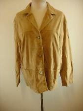 Womens XL Golden Bear San Francisco NWT tan suede leather jacket coat button-up