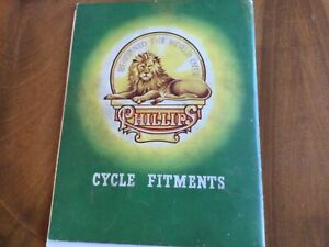 PHILLIPS CYCLE Fitments Caralogue 1960 original  66 pages A4 illustrated