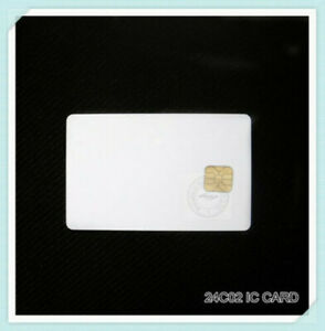 100pcs GT24C02 AT24C02 Blank white CR80 PVC contact smart IC cards