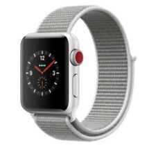 Apple Watch Series 3 (GPS + Cellular) 42mm Silver Aluminum Case Sports Loop
