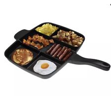Magic Pan Non-Stick Multi-Section 5-in-1 Frying Grill Hob Magicpan
