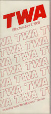 TWA system timetable 7/1/88 [308TW] Buy 2 Get 1 Free
