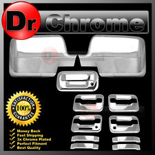 04-08 Ford F150 Chrome Mirror+4 Door Handle+keypad+keyhole+Tailgate Cover kit