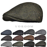 Herringbone Ivy Hat Wool Stripe Gatsby Cap Golf Driving Flat Cabbie Newsboy Warm