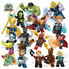 16pcs Set Marvel Super Heroes Lego Avengers Infinity War Mini Figures Man Hulk