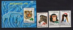Tiger / Bird / Monkey on stamps / Briefmarken MNH** Alb.2 - 8