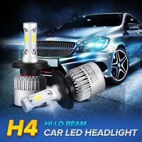 New 2x H4 9003 led 72W 8000LM S2 Headlight Car Hi/Lo Beam Auto Bulbs 6000K White