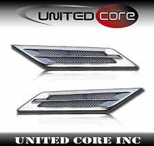 Chrome Universal Fender Vent Cadillac CTS Style Set of 2