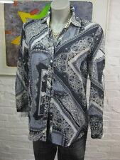 GERRY WEBER Edition Basic Fit Bluse Hemd Gr.38, Mehrfarbig m.Muster, Langarm
