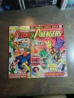 THE AVENGERS 2 Book lot #138,139  (1975)Marvel comics~