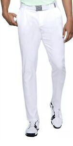 UNDER ARMOUR MENS SHOWDOWN STRAIGHT LEG WHITE GOLF PANTS 34X30 1309545-100