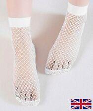 Women's Fishnet Socks High Quality Elastic White Polyester - UK Free P&P