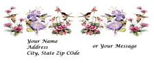 Personalized address labels Bird hummingbird Buy 3 get 1 free (bh 20)