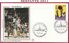 ITALIA FDC FILAGRANO GOLD SPORT ITALIANO PALLACANESTRO 1991 ANNULLO TORINO T853