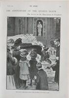 1902 Estampado Aniversario De Reinas Muerte Servicio Mausoleum Frogmore