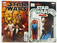 Marvel STAR WARS (2015) #1 1:25 Variant + LANDO Action Figure LOT NM Ships FREE!