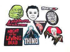 9 Piece Assorted Horror Movie Films TV Theme Embroidered Iron-On Applique Patch