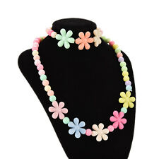 Colorful Beads Necklace&Bracelet Set Baby Girls FlowerJewelryGood gift.fashionZP