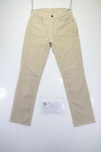 Levis 595 (Code D1465) Tg.44 W30 L34 Jeans Utilisé Ourlet Cire en Velours Rétro
