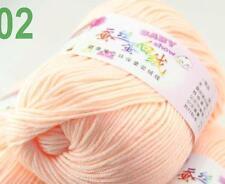 Sale new 1ball 50g Baby Cashmere Silk Wool Children hand knitting Yarn 02 Flesh