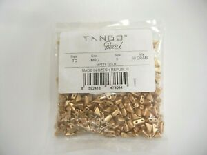 PRECIOSA sealed,appx.340 pcs..50 grams TANGO beads,style TG,size 6 matte gold