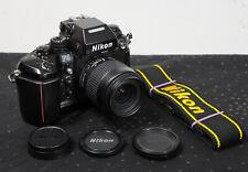 NIKON F4 Pro 35mm Film Camera with Nikon 35-80mm AF lens, filter, caps and strap