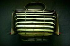 Vintage Bag1950's Bamboo Wood Accordian Concertina Purse Crab Catcher Handbag