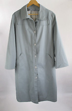 Womens London Fog Gray Trench Coat Made in USA Vintage