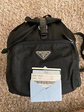 Prada BackPack Bag  Black Nylon Han
