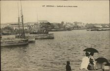 Dakar Senegal West Africa De La Petite Jetee c1900 Postcard