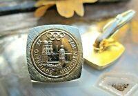 münz manschettenknöpfe cufflinks olympiade münchen 1972 vergoldet  rarität