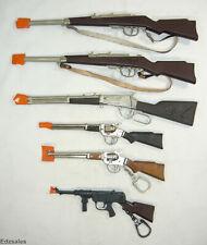 6 Vintage Miniature Cap Guns Toy Gun - Bolt Action Military , Carbine, Rifles
