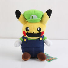 Pokemon Pikachu Super Luigi Plush Doll Soft Toy Figure Xmas Gift 9 inch US Ship