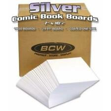 BCW Silver Comic Backing Boards Case of 1000 Wrapped 7x10.5