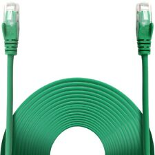 10m GREEN INTERNET CABLE RJ45 Ethernet Cat6 Fast Network Connection SNAGLESS