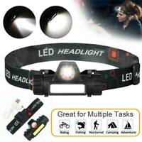 USB Rechargeable LED Headlamp Headlight Head Lamp Torch Flashlight Waterproof CA