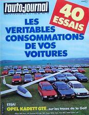 L' Auto Journal n° 8. 1° mai 1983. Opel Kadett GTE.