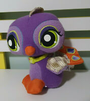 LITTLEST PET SHOP PEACOCK STUFFED ANIMAL PURPLE VIP HASBRO LPS 2008