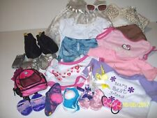 Build A Bear Lot of 33 Girl Boots Backpack Hats Sunglasses Cell Phone Shirts