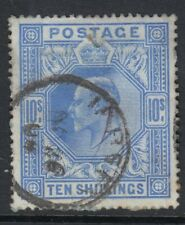 GB  EDVII  SG319    10/-   BLUE   good used with CDS