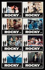ROCKY * CineMasterpieces ORIGINAL MOVIE POSTER LOBBY CARD SET OF 8 BOXING 1976