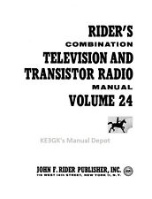 Riders Combination Manual * Vol 24 * Television and Transistor Radio-Gray Scale