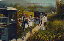 Postcard China Chinese Travelling in Sedan Chairs Kingshill 1920s #217