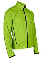 SUGOI Majik Shell Jacket Mens Large Bright Green Waterproof Shell Reflective