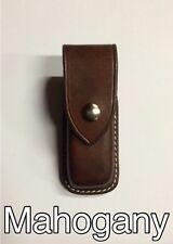 Custom Leather Mahogany Sheath for Leatherman Supertool 300 or Surge Closed Top