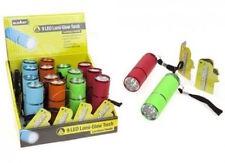 Summit Lumi-glow Flashlight 9 LED - Bright - Includes Batteries Choose colour
